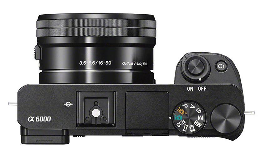 foto bovenkant Sony Alpha 6000 camera