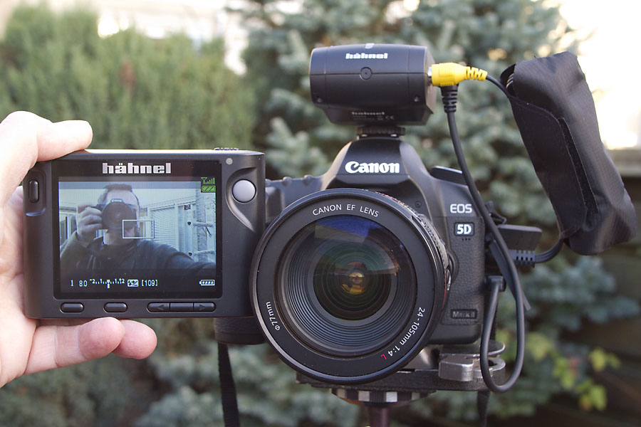 foto van Hahnel Inspire Liveview Remote Control op Canon camera