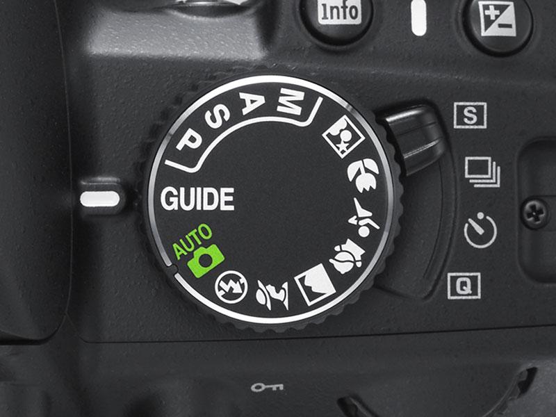 foto van knopje bovenop Nikon D3100