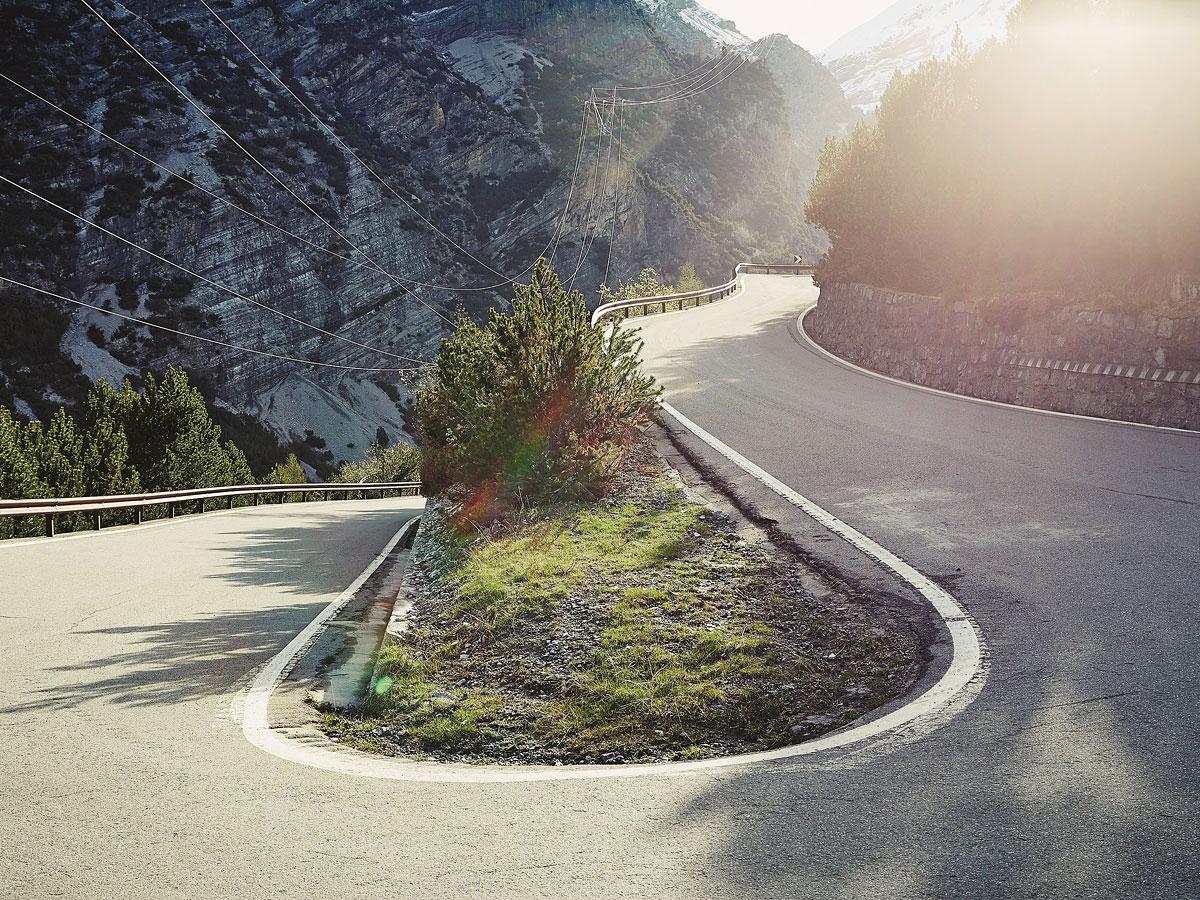 foto: © Michael Blannp. 2 Monte Zoncolan, het begin van de klim - uit het boek COLS