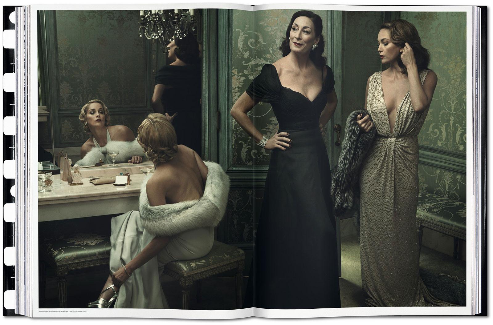 foto: © Annie Leibovitz - TASCHEN - Sharon Stone, Anjelica Huston, Diane Lane