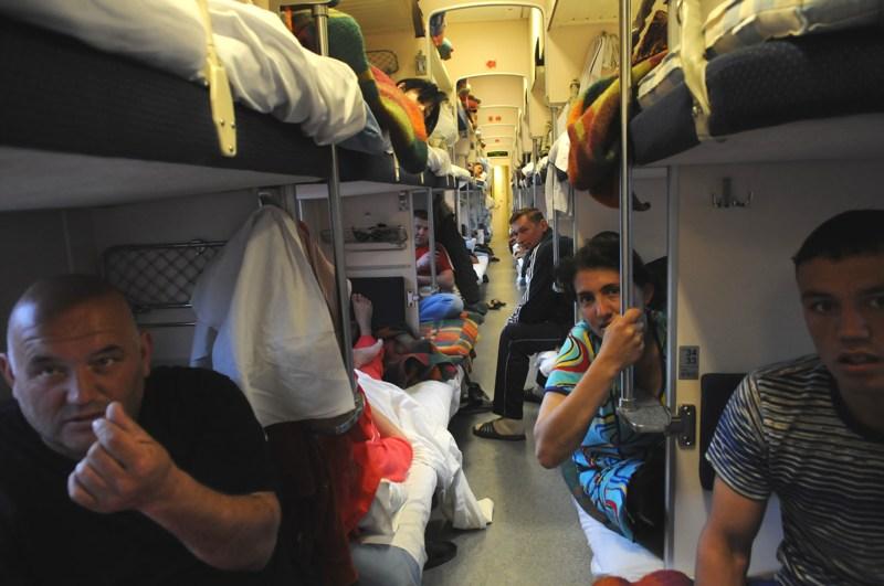 Trans Trans Baikal Express binnenin door Tom van der Leij