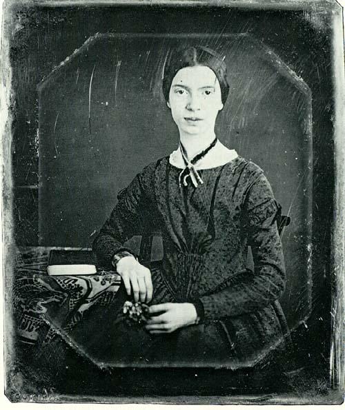 Een Daguerreotype van dichteres Emily Dickinson omstreeks 1846.