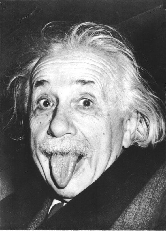 foto: Arthur Sasse - de tong van Einstein