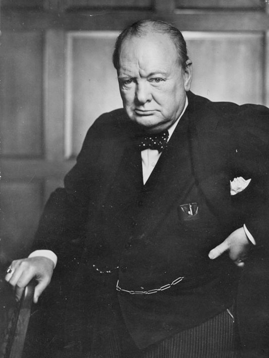 Winston Churchill, the roaring lion