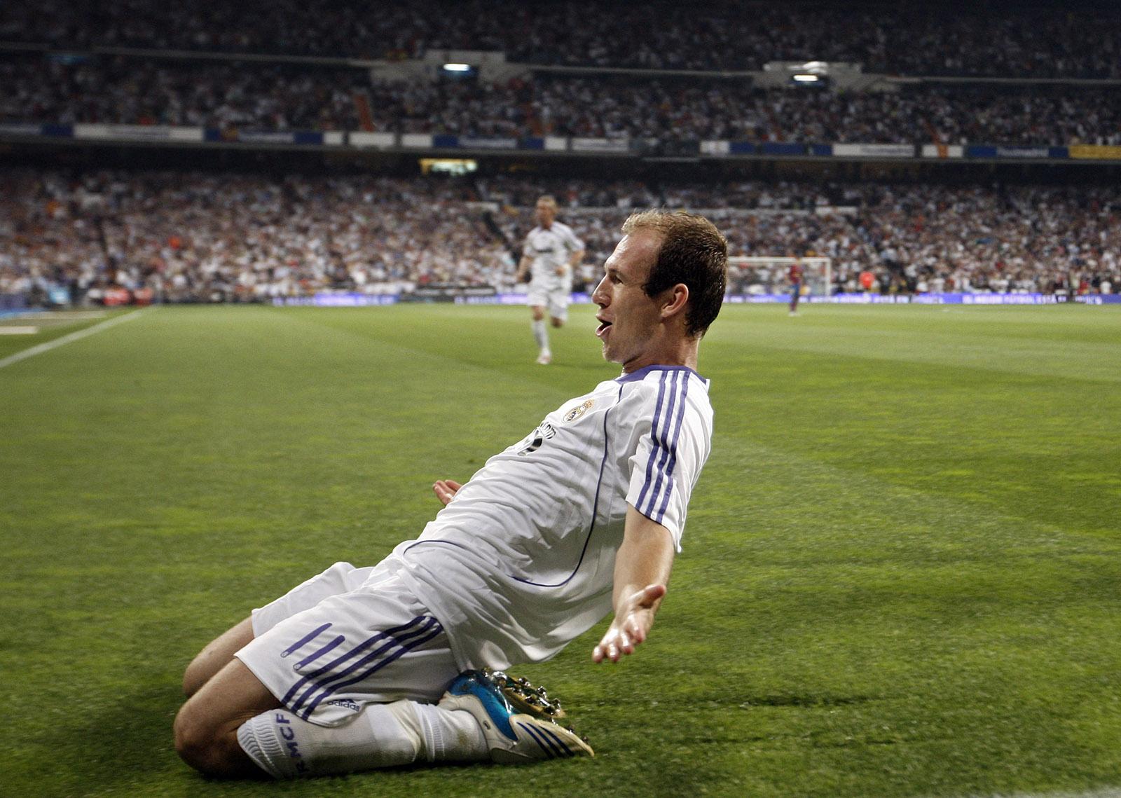 foto: Jasper Juinen | Arjen Robben, recente westrijd Real Madrid - Barcelona