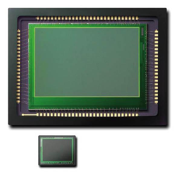 De Foveon sensor in vergelijking met de sensor van een compactcamera.