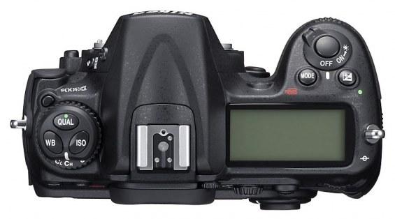 Nikon D300s bovenkant