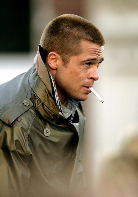 Edwin Smulders | Amsterdam 5 mei 2004, Brad Pitt bij opnames Ocean 12
