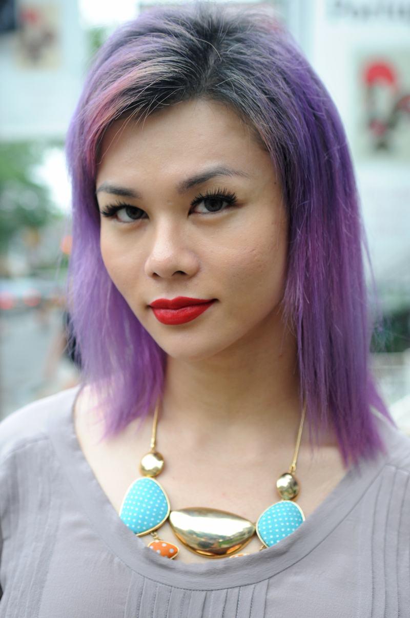 foto: © Tom van der Leij | meisje in Toronto met paars haar