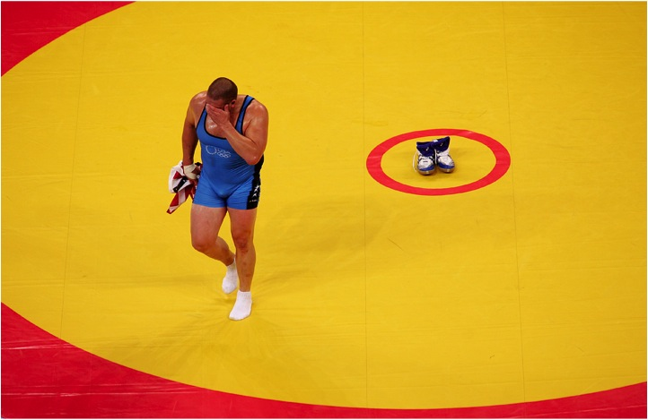 foto: Adam Pretty | Olympische Zomerspelen 2004, Athene, Griekenland - Rulon Gardner,