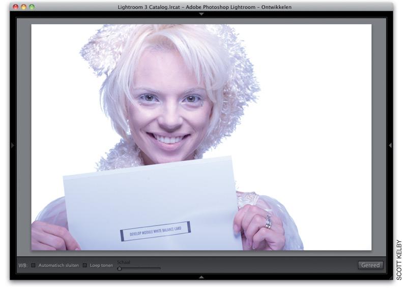 foto vrouw met brief in Lightroom