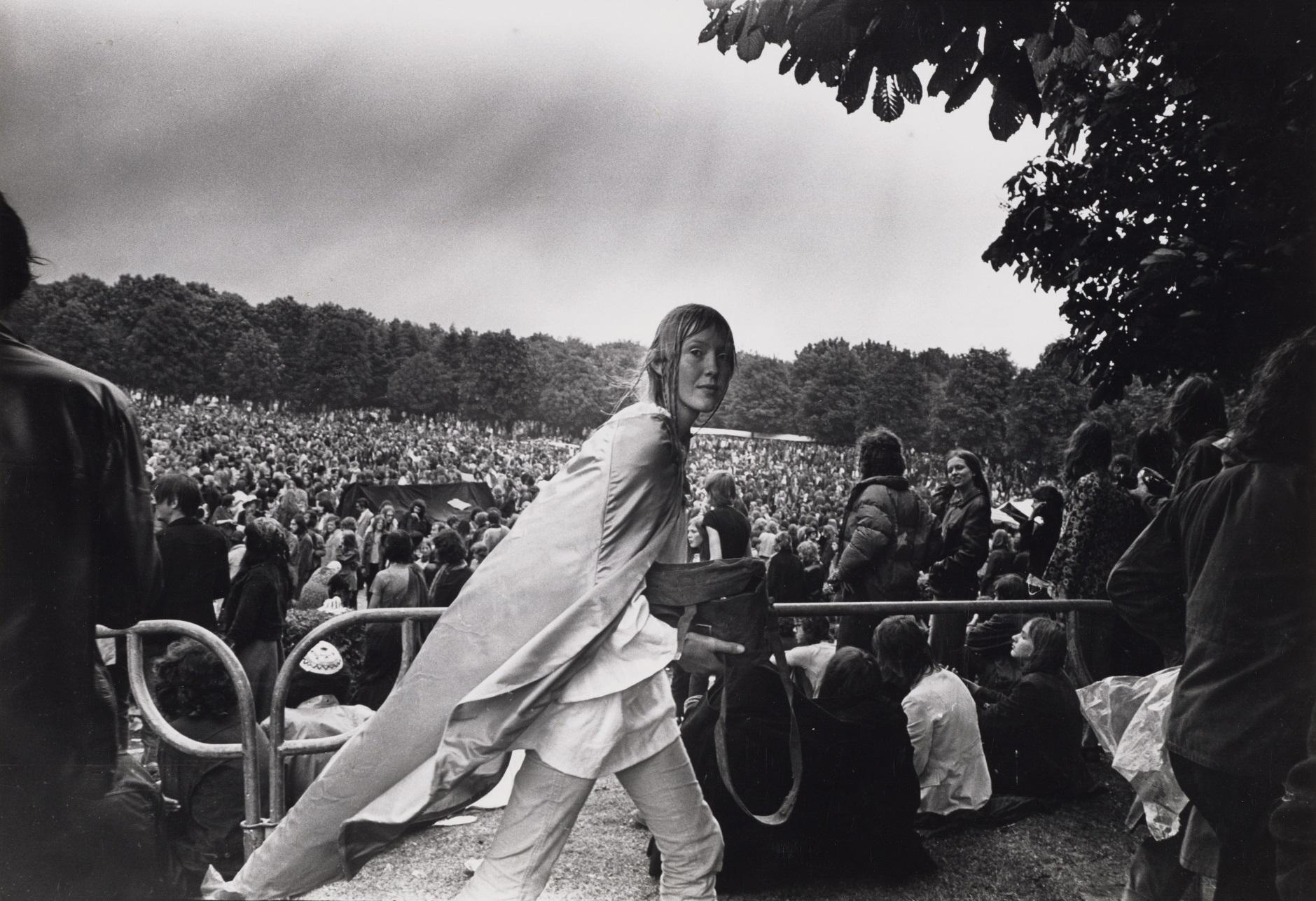 Foto:Dolf Toussaint  Popfestival in het Amsterdamse Bos, 26 juni 1971