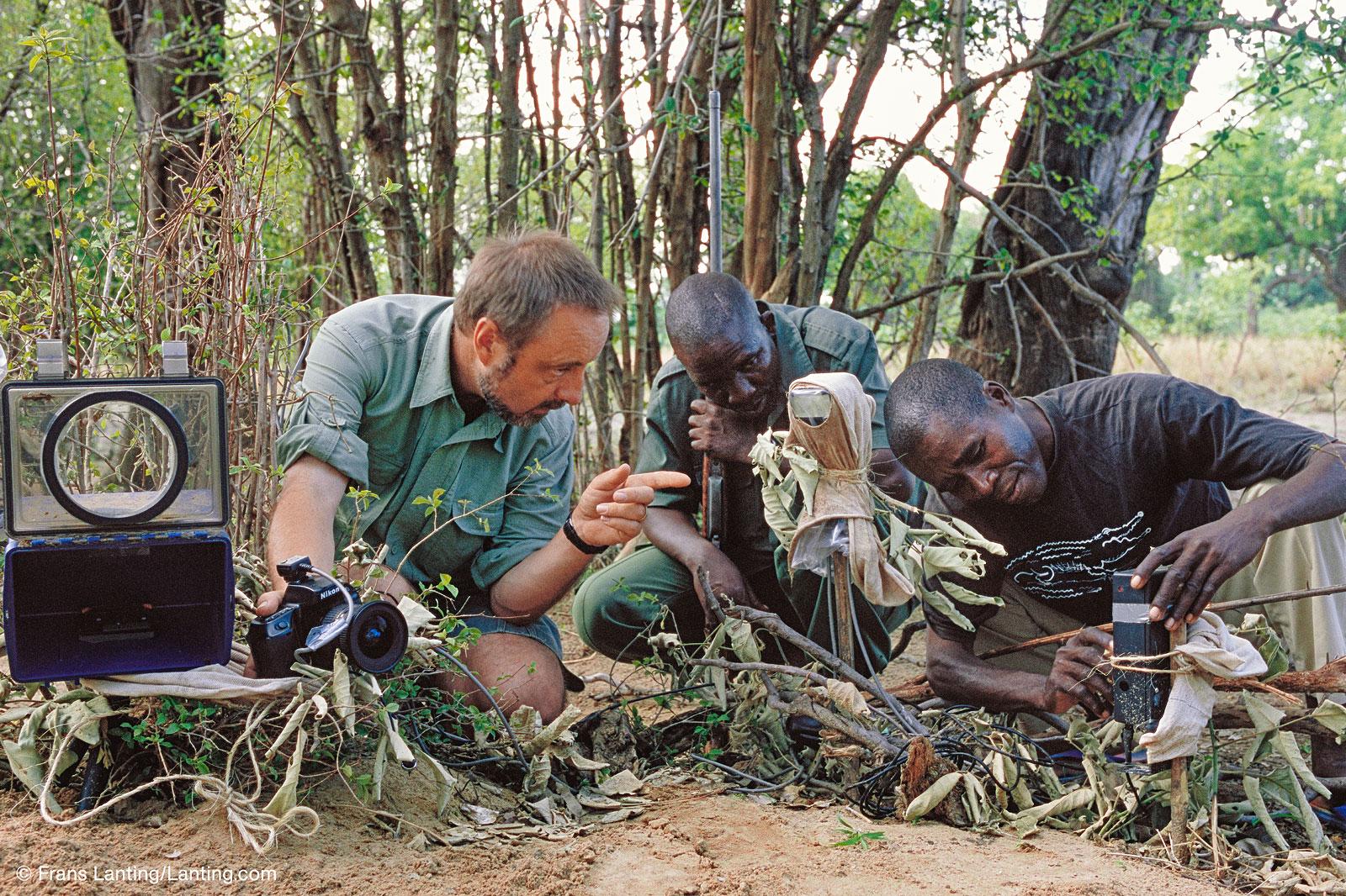 Frans Lanting aan het werk in Afrika