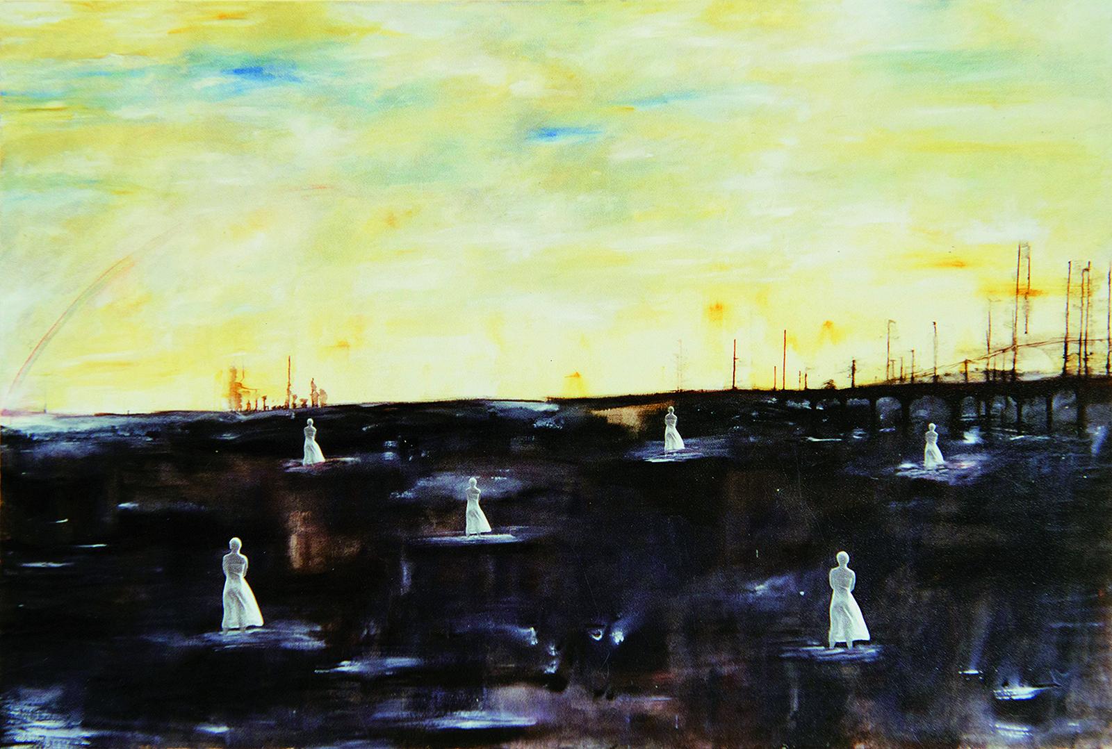 schilderij: © Tina van Turnhout - The new century 1999-2000