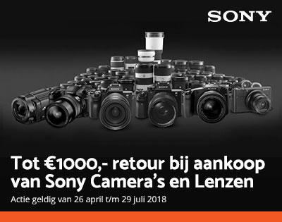 Sony cashbacks bij CameraNU.nl