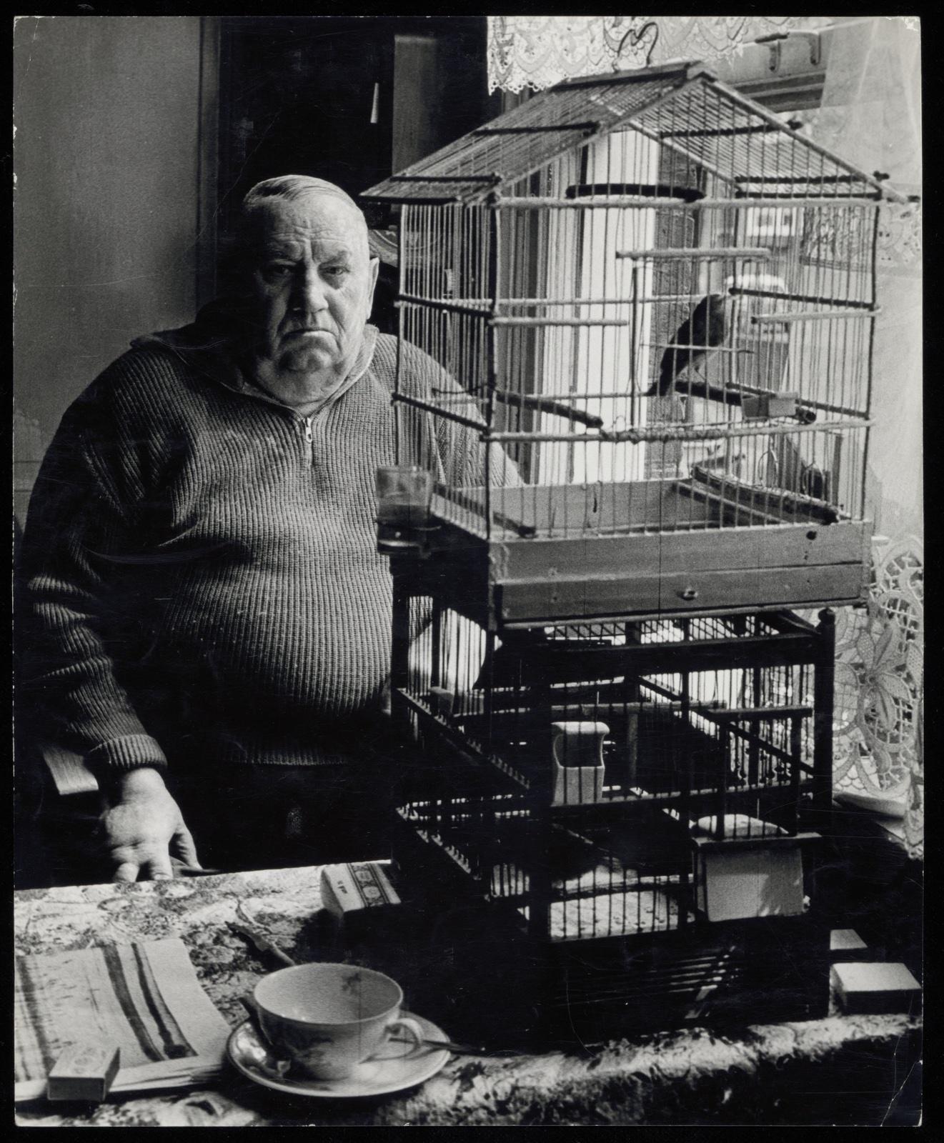 foto: Dolf Toussaint - Oud-koetsier Leonardus Johannes Worrel, Westerkade 6, ca. 1963