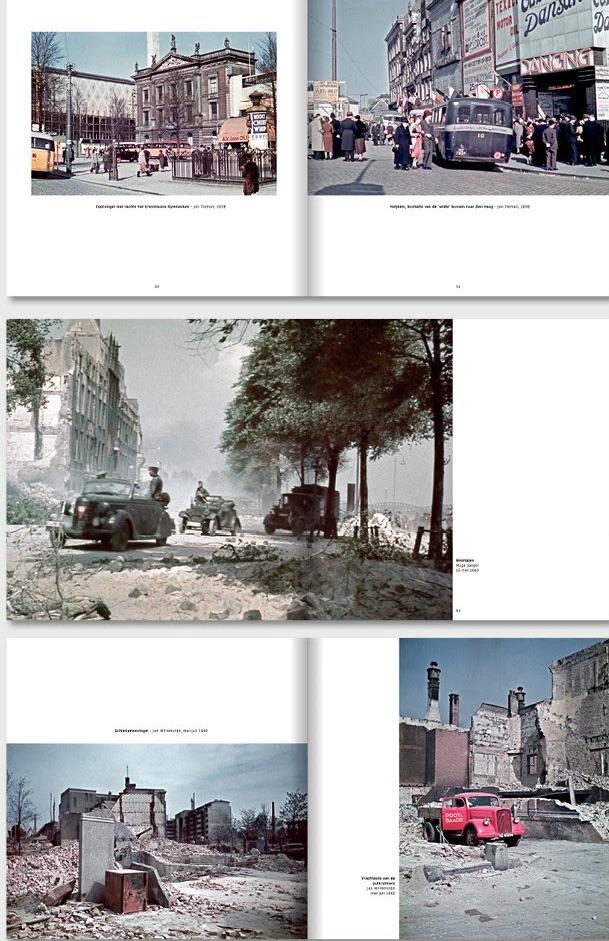 foto's uit boek Rotterdam, de allereerste kleurenfoto's 1937-1945