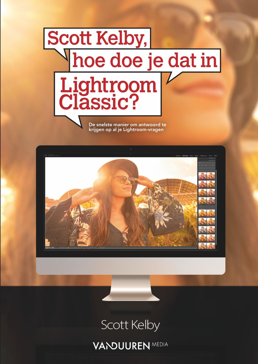 Coverfoto boek Scott Kelby, hoe doe je dat in Lightroom Classic?