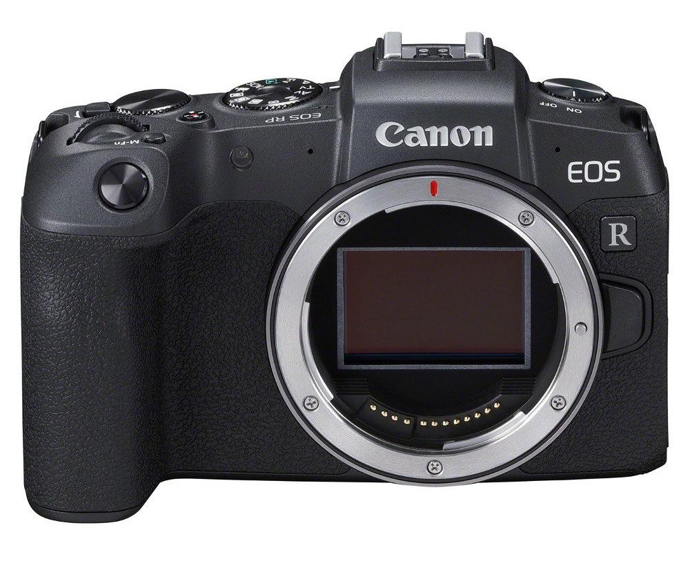 foto van de voorkant van de Canon EOS RP camera