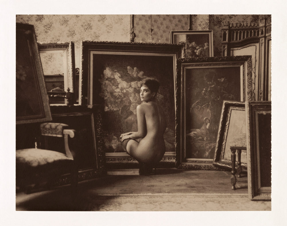polaroidfoto van Marc Lagrange getiteld Garden of Paintings