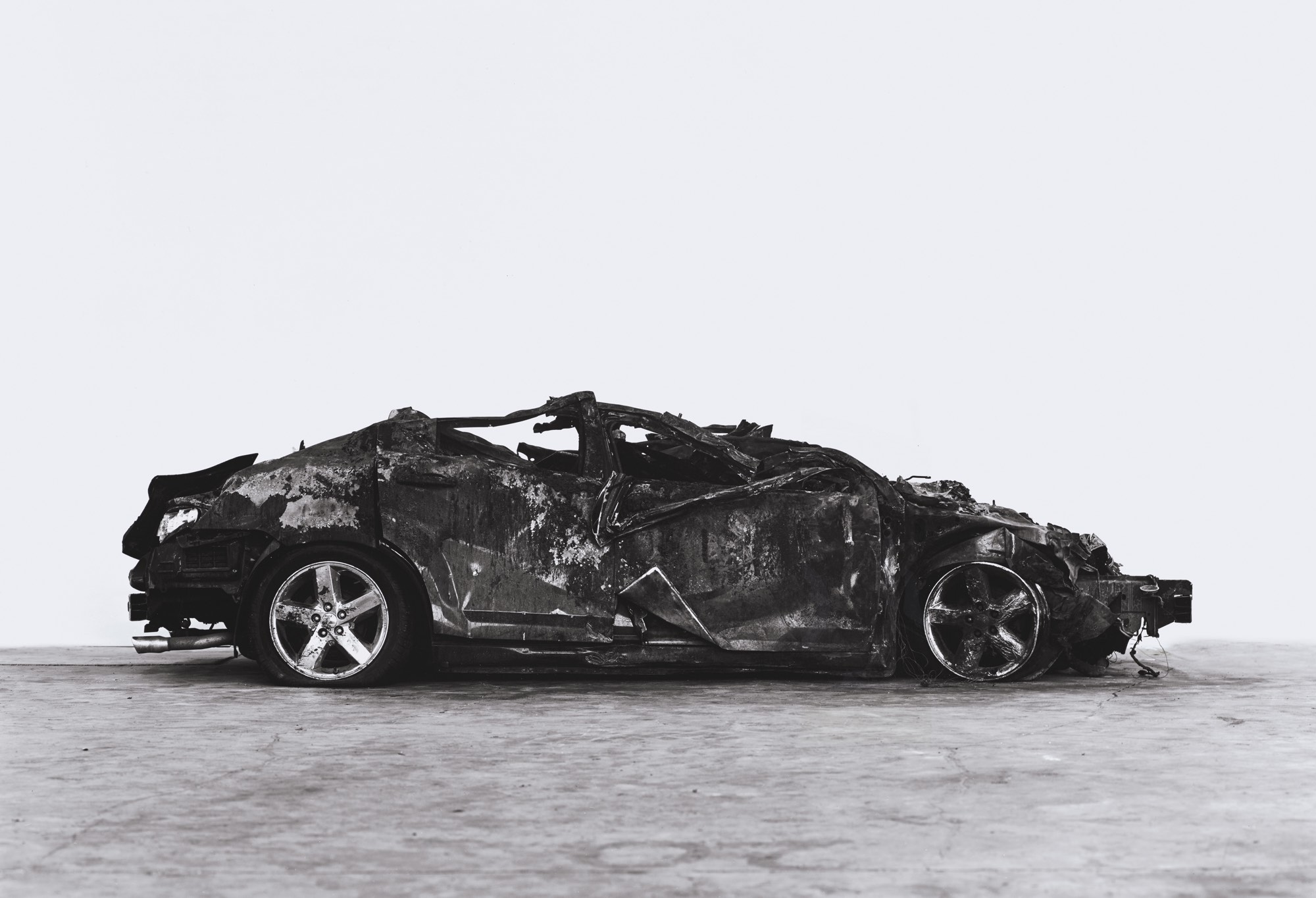 Richard Learoyd, Crashed and Burned, 2017, courtesy of the artist and Fraenkel Gallery, San Francisco