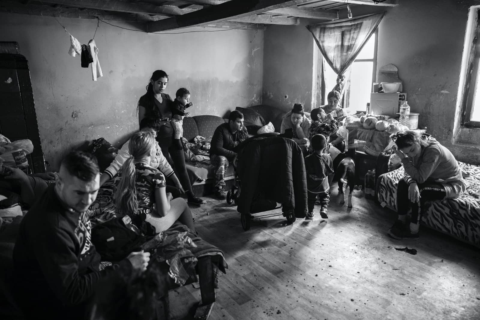 foto: © Sandra Minten - 3 families in 1 kamer