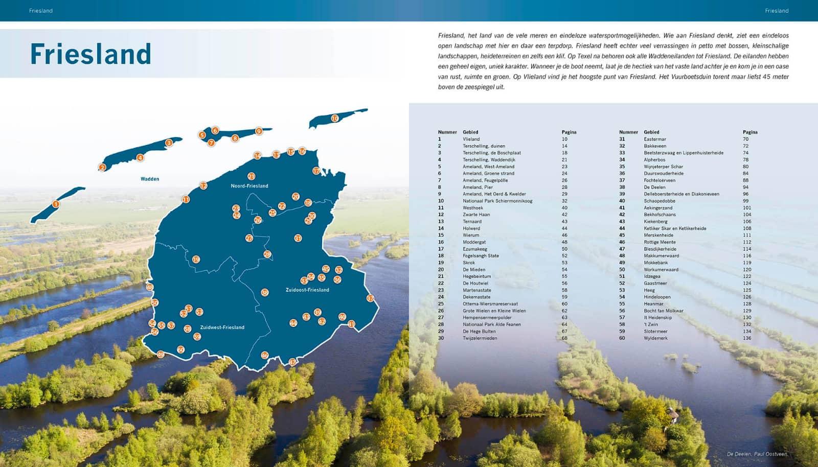 kaart Frieland: De mooiste fotolocaties - Noord-Nederland, 150 Natuurgebieden en 600 locaties, isbn 7989079588299