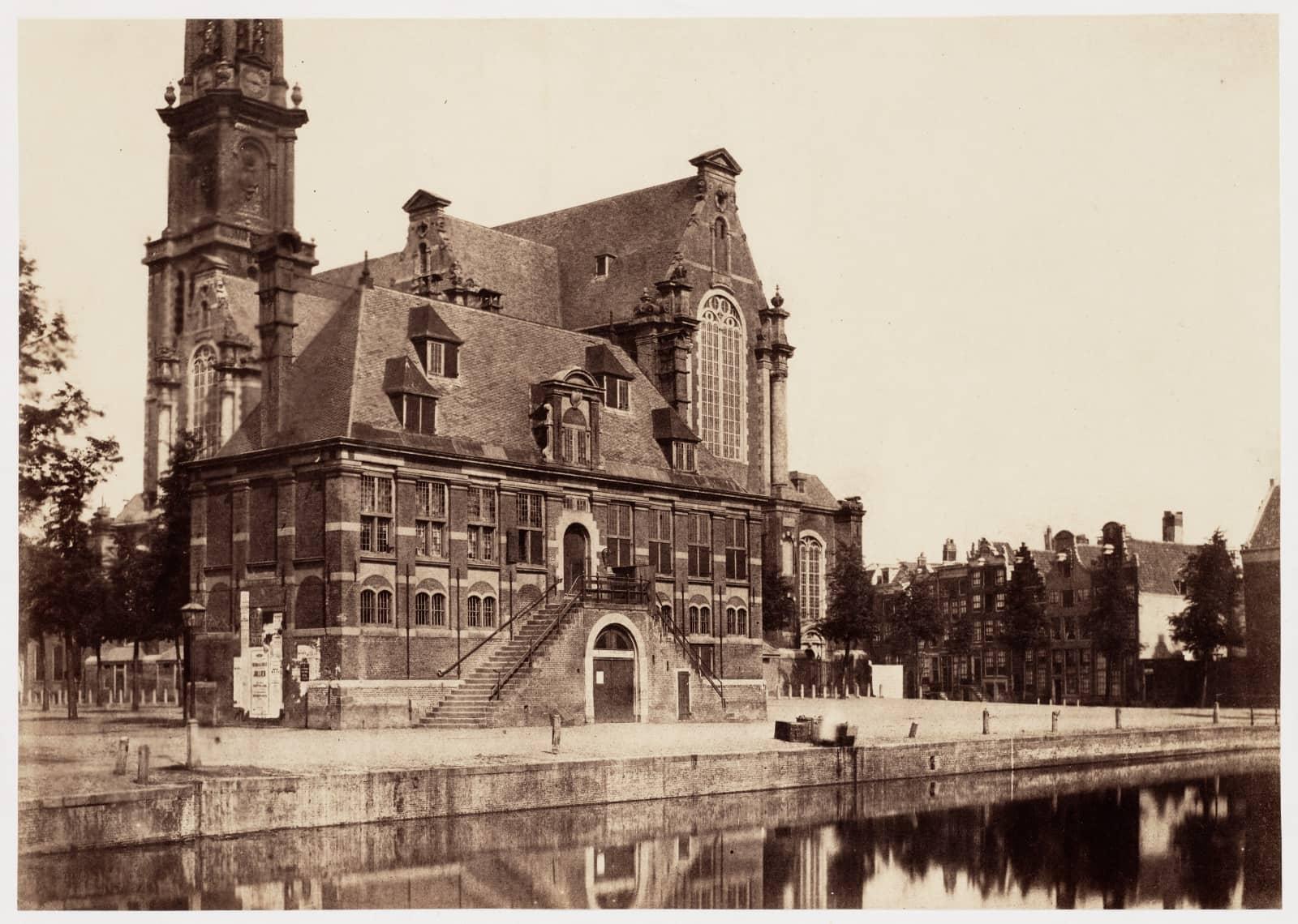 Benjamin Brecknell Turner, De Westermarkt, 1857 (Albuminedruk van papiernegatief, zgn. calotypie 273 x 388 mm)