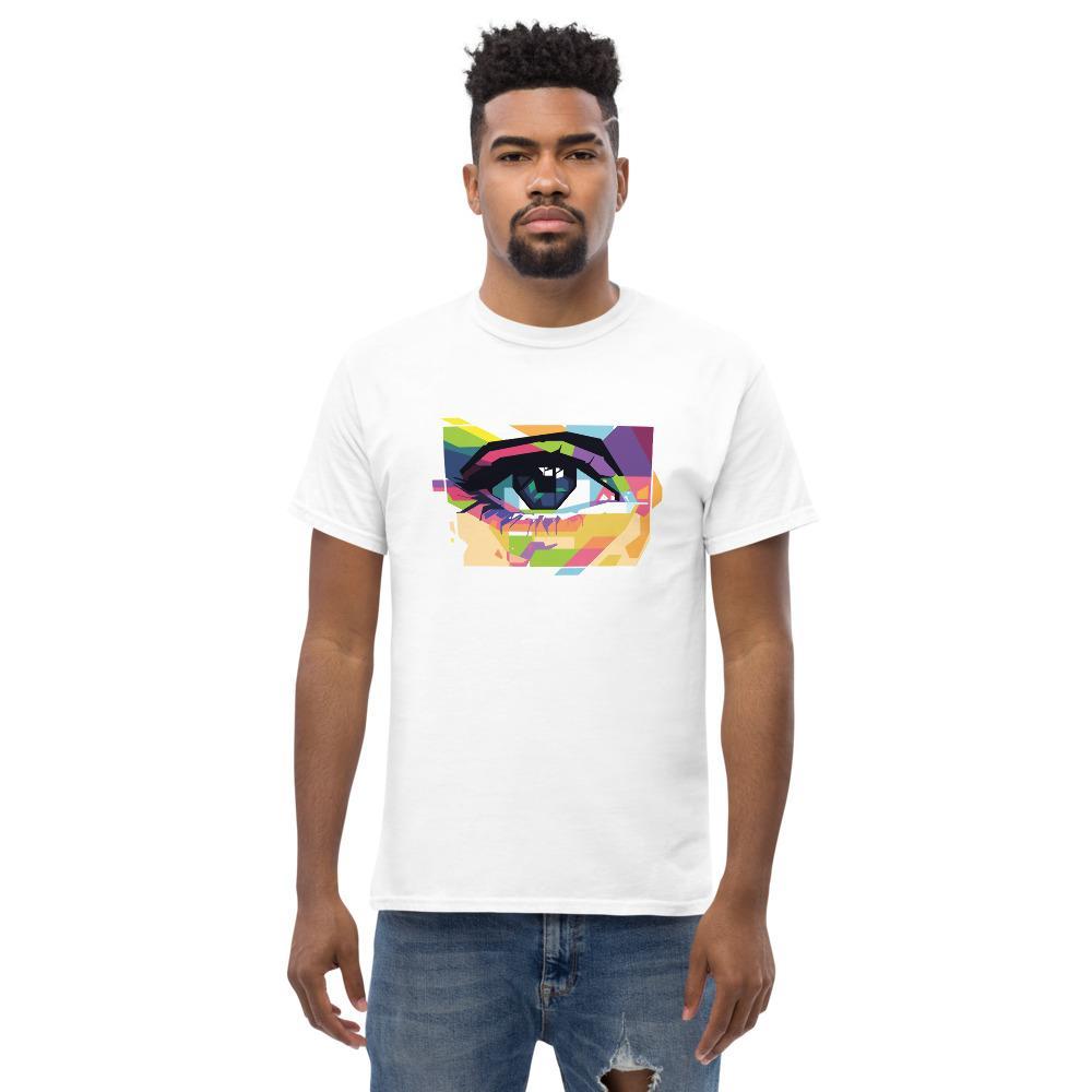 Fotograaf T-shirt cadeau: T-shirt met korte mouwen bedrukt met fotograferend oog