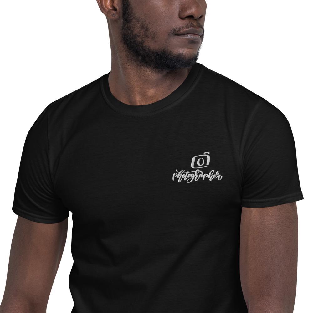 Fotograaf T-shirt cadeau: T-shirt met korte mouwen geborduurd met Photographer