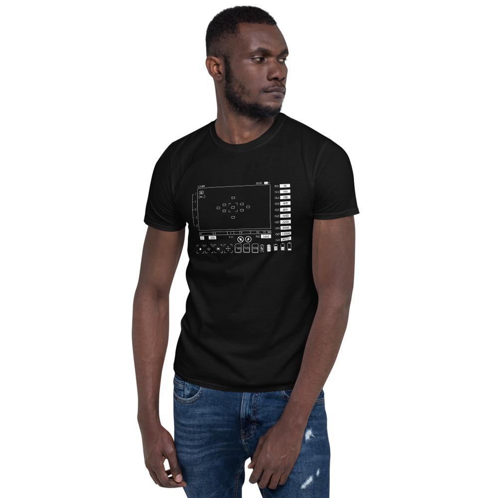 Fotograaf T-shirt cadeau: T-shirt met korte mouwen bedrukt met Viewfinder camera