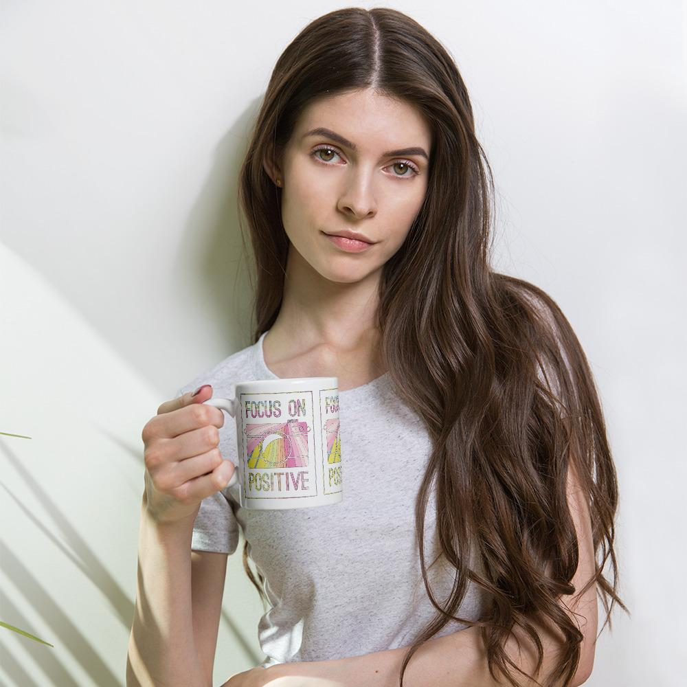 Fotograaf mok cadeau: Focus on Positive koffiemok