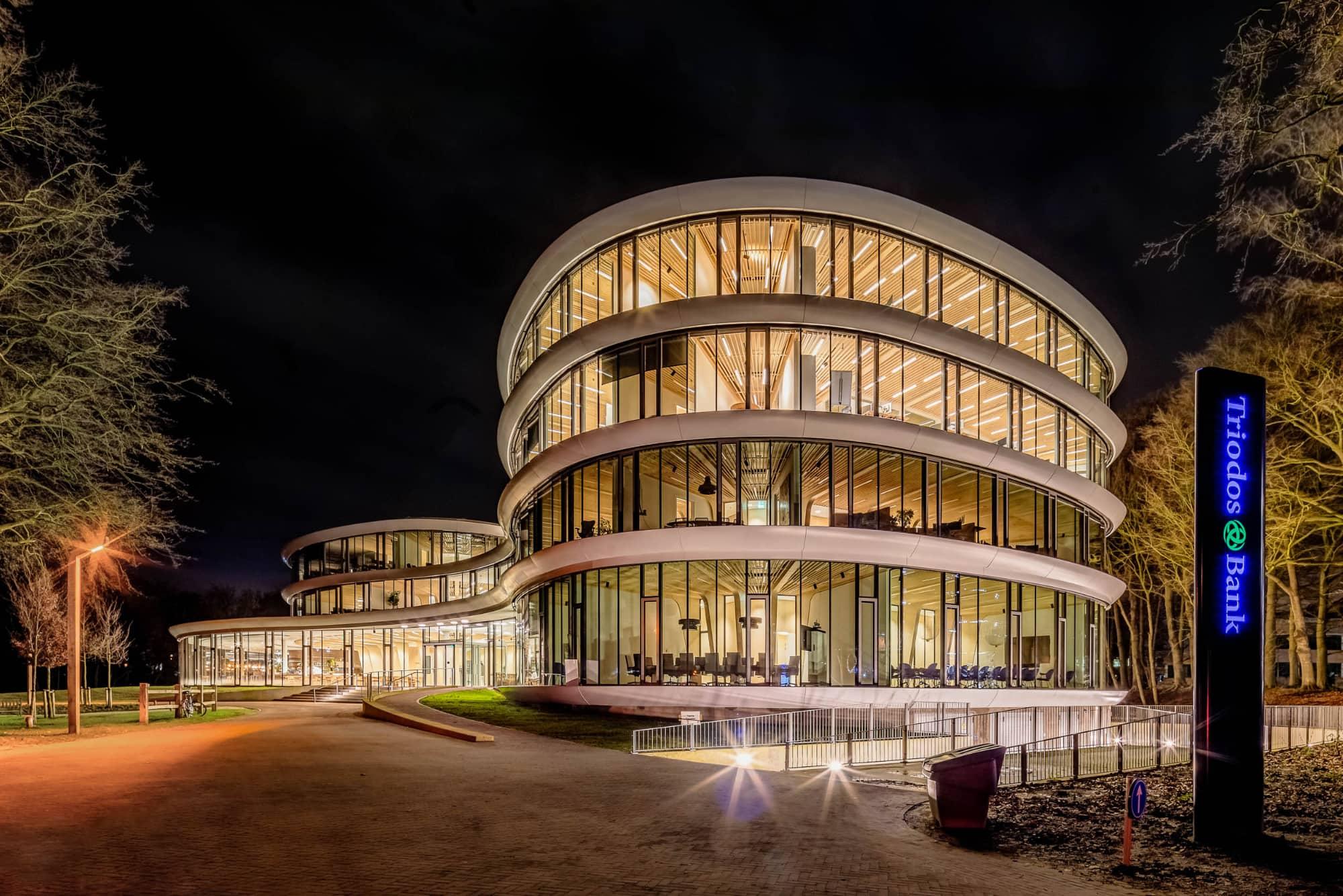 Architectuurfoto Triodos Bank gebouw door Jaap Lotstra