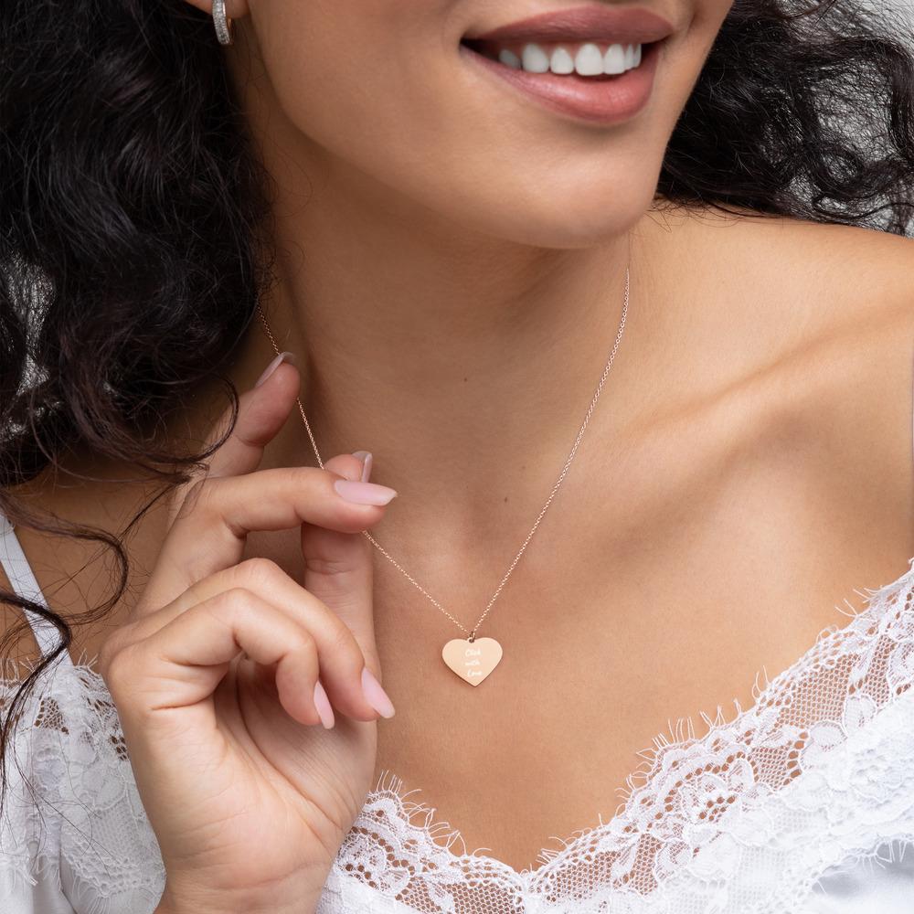Fotografie cadeau: Click with Love - Gegraveerde zilveren halsketting