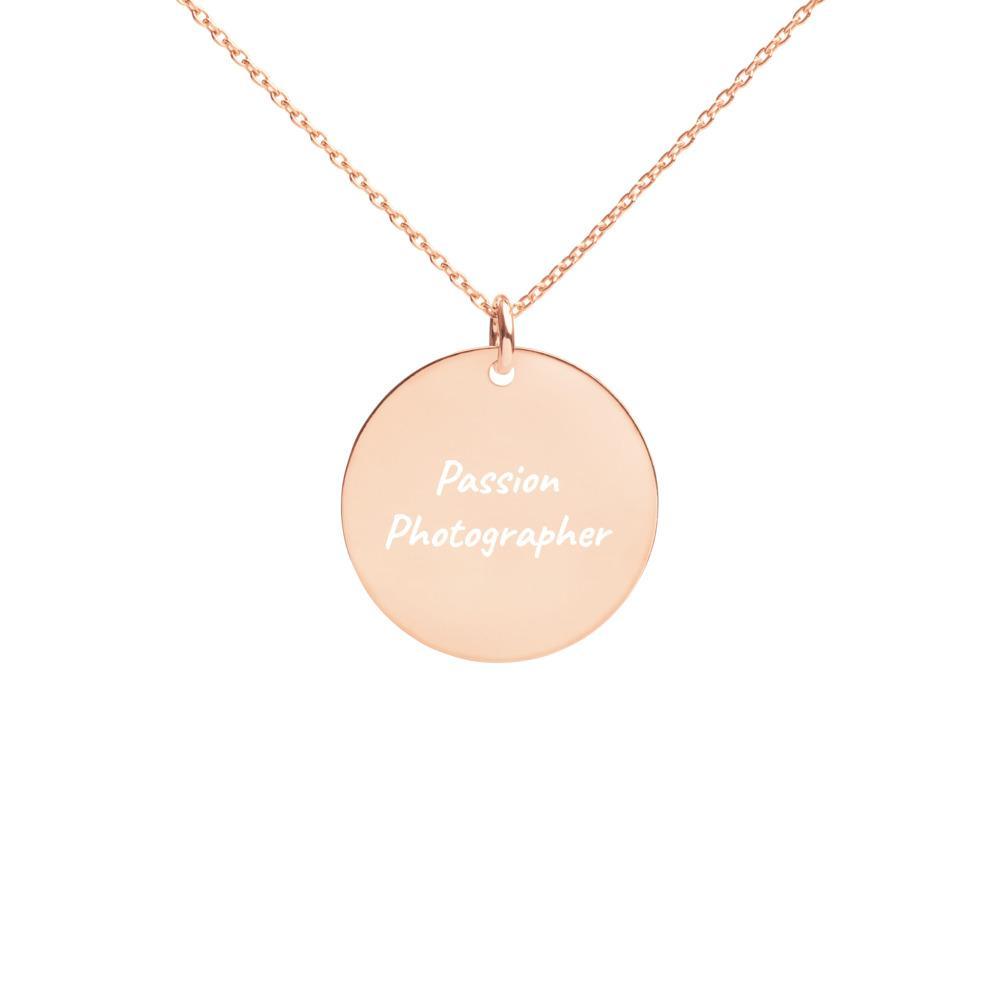 Fotografie cadeau: Passion Photographer - Gegraveerde zilveren halsketting