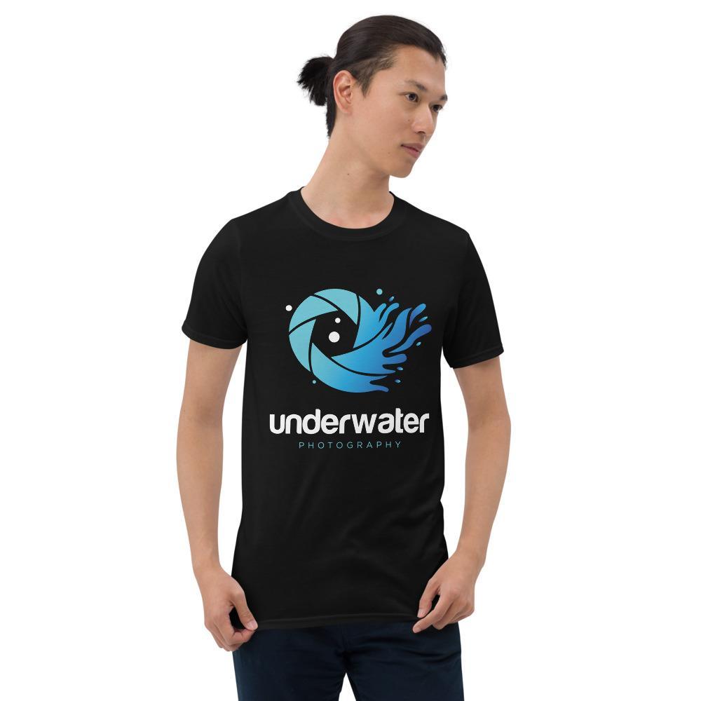 Fotografie cadeau: T-shirt met korte mouwen bedrukt met Underwater Photography en golf