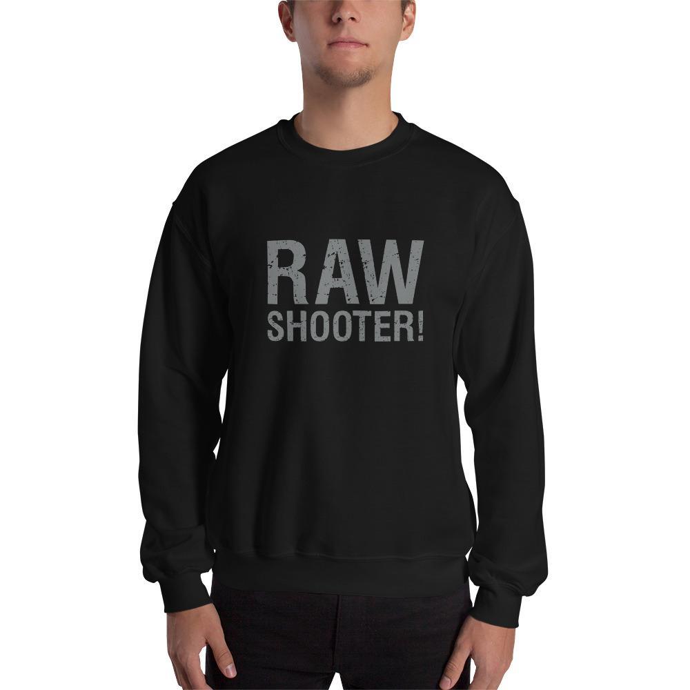 Fotografie cadeau: sweatshirt bedrukt met tekst RAW shooter