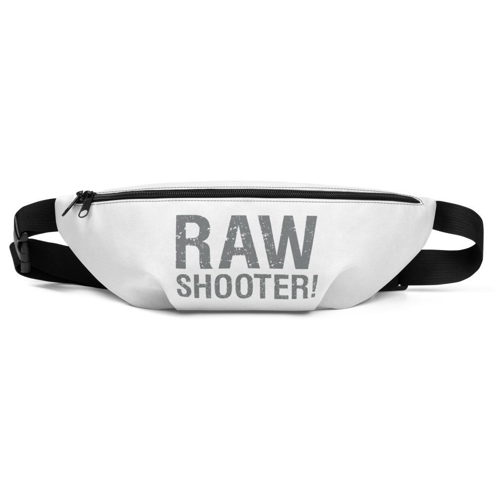 Fotografie cadeau: heuptasje bedrukt met tekst RAW shooter