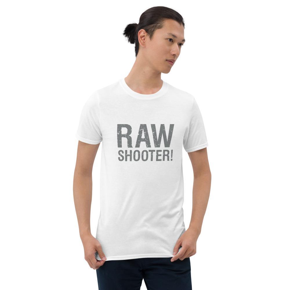 Fotografie cadeau: T-shirt met korte mouwen met tekst RAW shooter