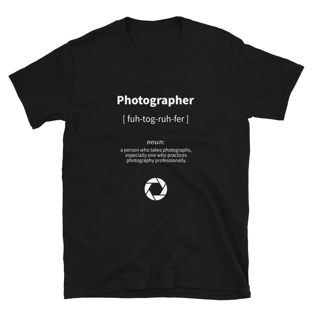 Fotografie cadeau: Photographer - T-shirt met korte mouwen, unisex