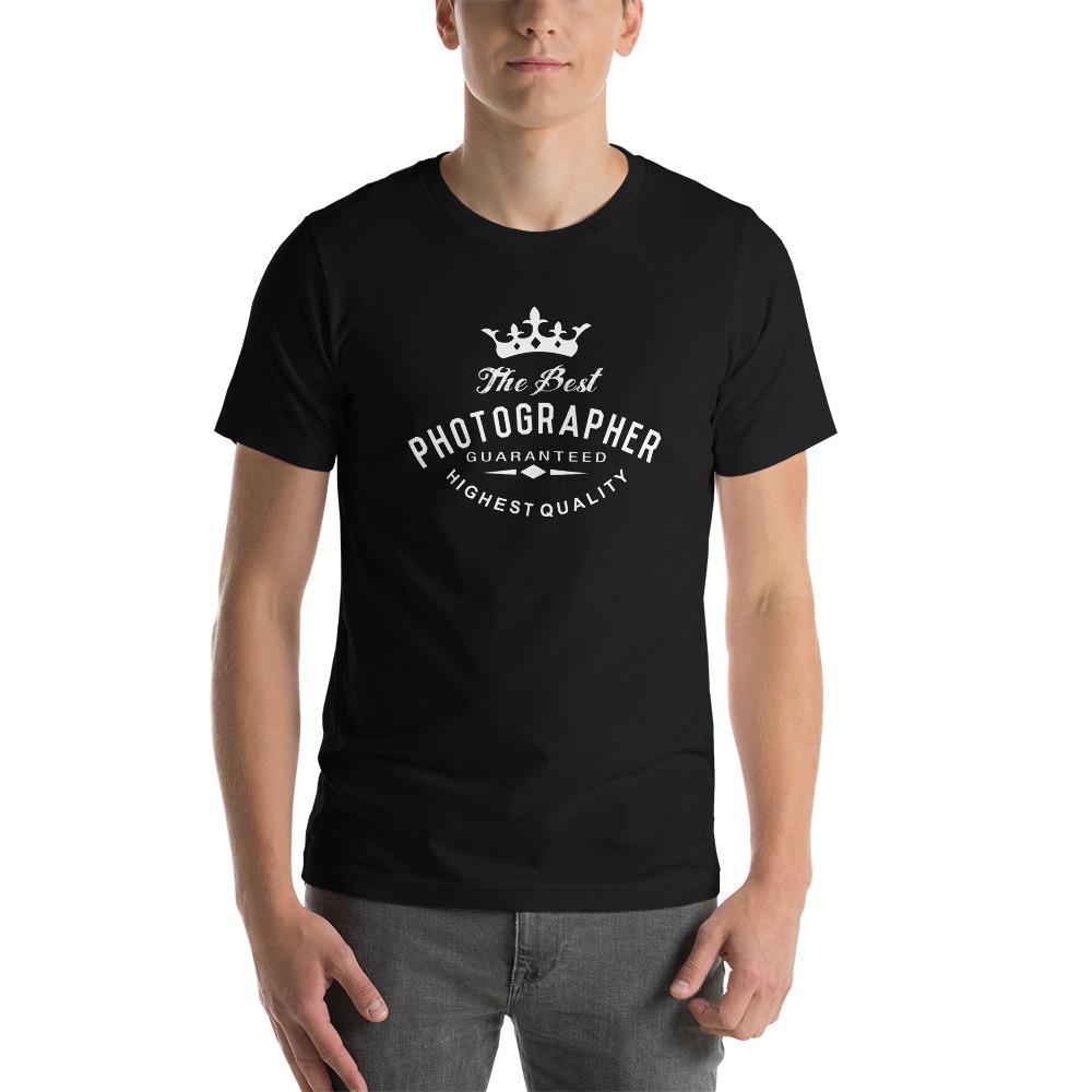 Fotografie cadeau: T-shirt met korte mouwen met tekst The Best Photographer guaranteed