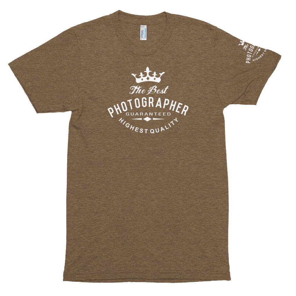 Fotografie cadeau: tri-blend trainings T-shirt met tekst Best Photographer