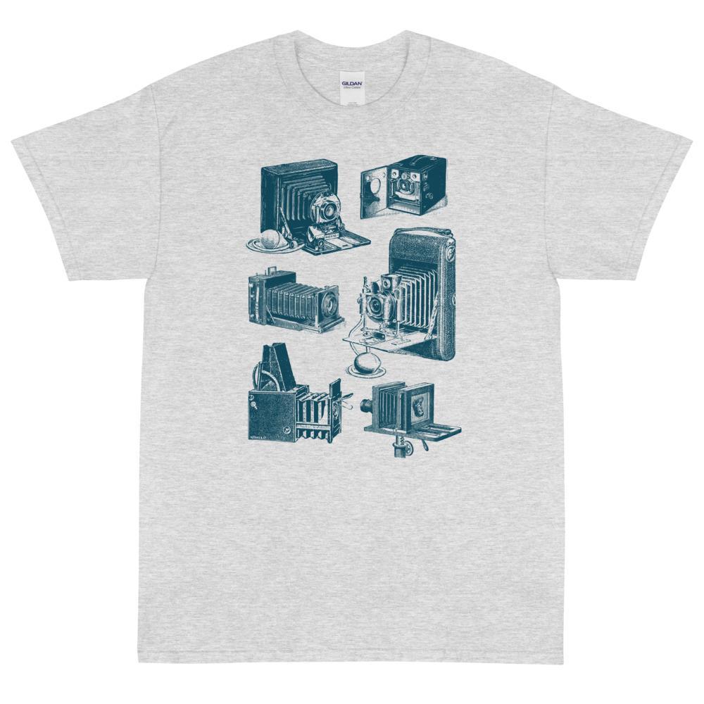 Fotografie cadeau: T-shirt met korte mouwen met vintage klassieke camera's