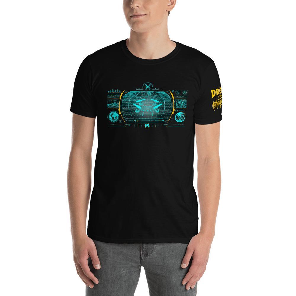 Fotografie cadeau: T-shirt met korte mouwen met drone camera in groen