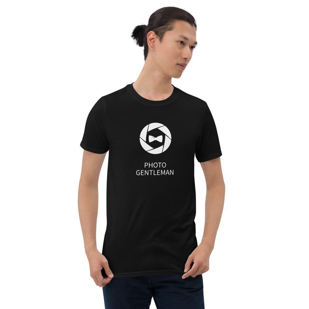 Fotografie cadeau: Photo Gentleman - T-shirt met korte mouwen, heren, met sluitersymbool en strik