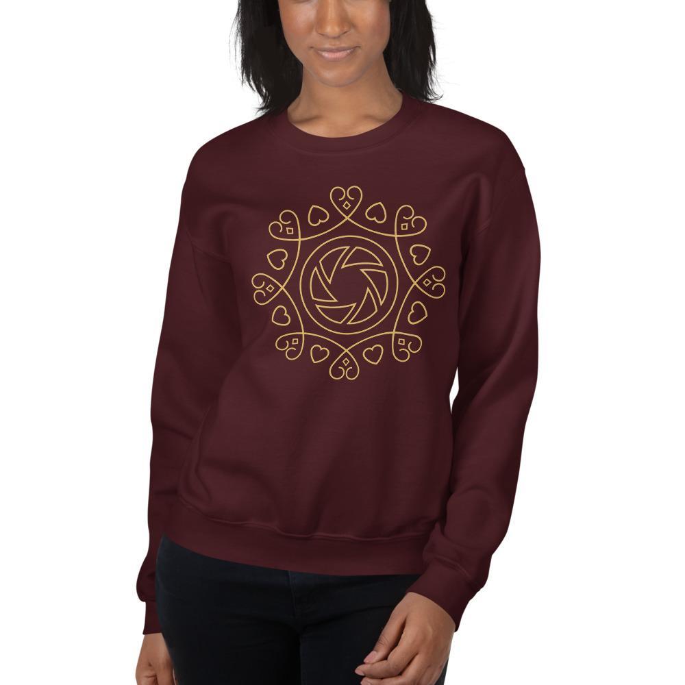 Fotografie cadeau: sweatshirt voor dames met hart voor fotografie embleem