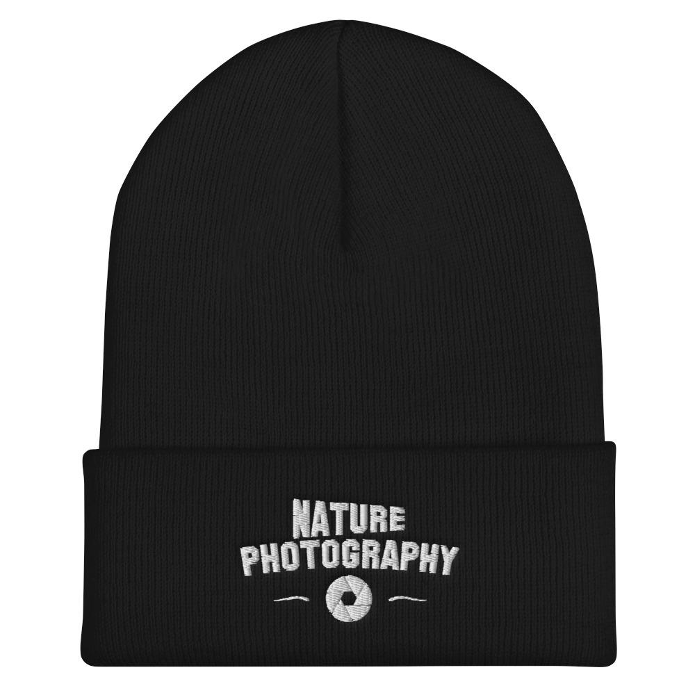 Fotograaf muts cadeau: muts met geborduurd embleem Nature Photography