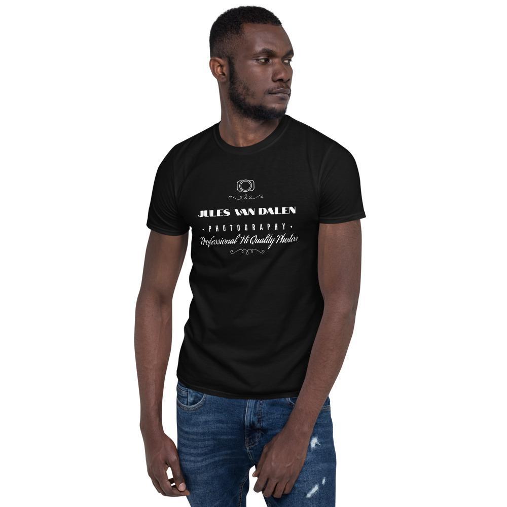 Fotograaf T-shirt cadeau: Gepersonaliseerd T-shirt met korte mouwen, heren, met tekst