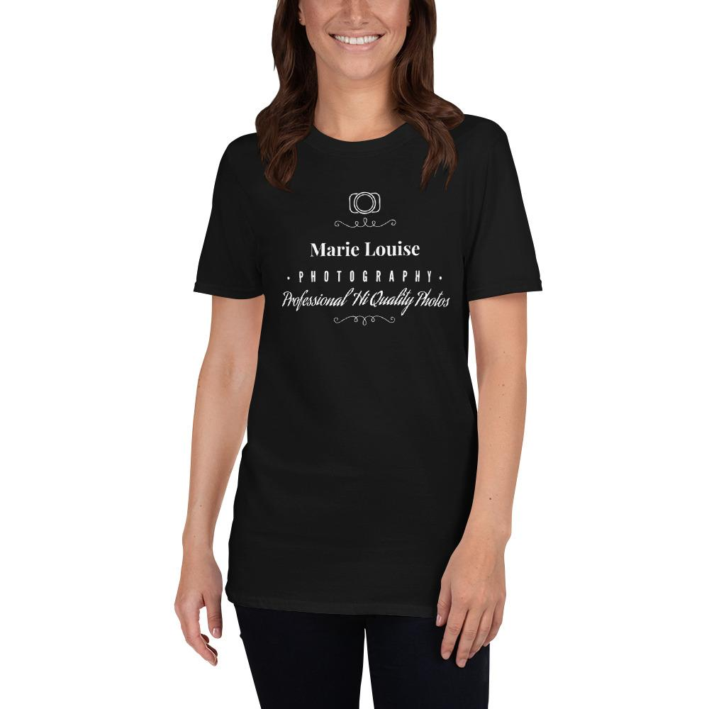 Fotograaf T-shirt cadeau: Professional Hi Quality Photos - Gepersonaliseerd T-shirt met korte mouwen, dames